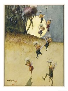 by Ernest Aris( elves parachuting on thistledown!)