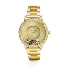 Origami Owl GOLD SIGNATURE LOCKET WATCH WITH SWAROVSKI CRYSTALS New!  $118.00  Make your time, yours! Customization meets luxury with the Gold Signature Locket Watch. Crafted in durable brushed Gold Stainless Steel and featuring 61 luminous Swarovski® Crystals, design the look that means the most to you by adding Charms to tell your story. https://staciemarshman.origamiowl.com/