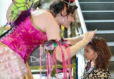 """Fairy Princess Lolly turns regular hair into fairy hair at an Oddmall earlier this year. Children can join in her """"bloomday"""" celebra. Castle Project, Fairy Hair, Fairy Princesses, Event Venues, Join, Park, Children, Clothing, Kids"""