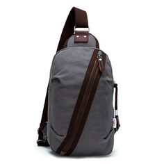 New Arrival Chest Bag Men Small Messenger Bag Leisure Casual Brand Pure Cotton Fashion Zipper Canvas Back Pack Bags