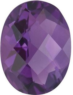 Amethyst 10192: Natural Fine Purple Amethyst - Oval Checkerboard - Brazil - Top Grade BUY IT NOW ONLY: $71.1