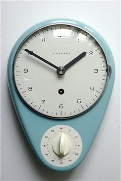 Love this #kitchen clock with timer.