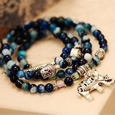 Dominated natural crystal bracelet female vintage fashion multi-layer blue tourmaline buddha head bracelet Fash Jewels http://fashjewels.com/product/dominated-natural-crystal-bracelet-female-vintage-fashion-multi-layer-blue-tourmaline-buddha-head-bracelet/  Price: & FREE Shipping  #jewellery