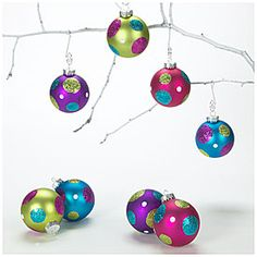 $6 Chic Christmas on a Single Mommy budget - Fashion Glass Ornaments, 8-Pack