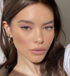 Neutral Makeup, Glam Makeup, Skin Makeup, Makeup Inspo, Makeup Inspiration, Beauty Makeup, Makeup Eye Looks, Eyeliner Looks, Natural Makeup Looks