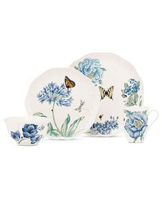 Lenox Dinnerware, Butterfly Meadow Blue Collection - Casual Dinnerware - Dining & Entertaining - Macy's