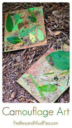 Camouflage Art is the perfect summer art activity for nature loving kids! Summer Art Activities, Nature Activities, Preschool Activities, Dinosaur Activities, Family Activities, Projects For Kids, Art Projects, Crafts For Kids, Arts And Crafts