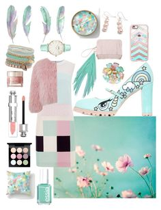 """""""Pastels in the winter"""" by sarahcanavan on Polyvore featuring Raoul, Minna Parikka, Casetify, Essie, Charlotte Simone, The Volon, Cielle London, Hiho Silver, CLUSE and ALDO"""