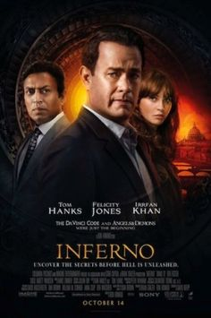 The new poster of Tom Hanks-Irrfan Khan starrer Inferno is out. The mystery thriller film which is set to hit the screens this October will is direct. Old Movies, Great Movies, Movies Free, Vintage Movies, Movie Theater, Movie Tv, Irrfan Khan, Felicity Jones, Recent Movies