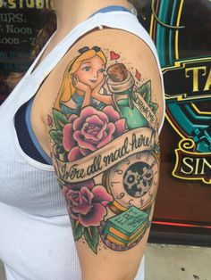11 Small But Important Things To Observe In Good Clean Fun Tattoo Alice In Wonderland Tattoo Sleeve, Alice In Wonderland Drawings, Mini Tattoos, Cute Tattoos, Body Art Tattoos, Tatoos, Disney Sleeve Tattoos, Disney Tattoos, Tattoo Now
