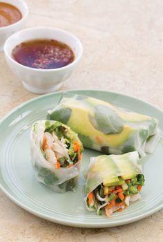 Avocado Spring Rolls with Two Dipping Sauces | CaliforniaAvocado.com