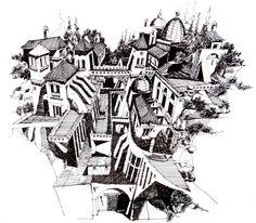 Ilustrações que desafiam a realidade arquitetônica,La Comarca del Tajo. Image Courtesy of Juan Luis López