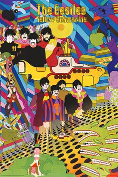 Here are some trippy psychedelic style Beatles art and graphics. There are images from the Yellow Submarine Movie, Sgt. Pepper, Abbey road, etc. If you have other trippy Beatles images Poster Dos Beatles, Les Beatles, Beatles Art, Beatles Nursery, Film Poster, Print Poster, Rock Posters, Concert Posters, Band Posters