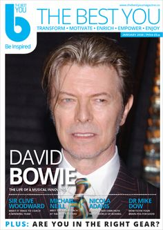 Musical innovator and legend David Bowie is on the cover of #TheBestYou magazine this January.