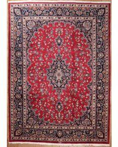 Semi-antique Persian Mashad Area Rug 1734 - Area Rug