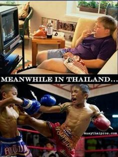 Muay Thai burns over 800 calories per hour As opposed to who know how much weight gain watching TV and snacking Martial Arts Humor, Martial Arts Quotes, Martial Arts Workout, Aikido, Karate Kyokushin, Muay Thai Training, Brazilian Jiu Jitsu, Mixed Martial Arts, Bodybuilding Workouts