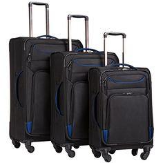 Coolife Luggage 3 Piece Set Suitcase Spinner Softshell lightweight Suitcase  Set 043c607b80bd3