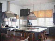 windows, lighting, painted cabinets #kitchen