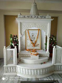 Temple Room, Mandir Design, Pooja Room Door Design, Puja Room, Bed Designs, Sai Ram, Room Doors, Ganesha, Krishna