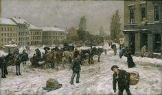 Fritz Thaulow - Gateparti 1881