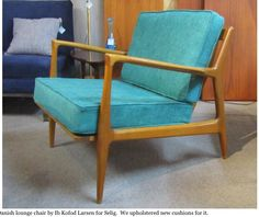Mid-century modern chair at Remnant in Portland, Oregon (sold).