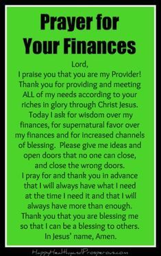 prayer for finances Prayer for Your Finances - Happy, Healthy amp; Prayer Scriptures, Bible Prayers, Faith Prayer, God Prayer, Prayer Quotes, Catholic Prayers Daily, Power Of Prayer, Answered Prayers, Faith Bible