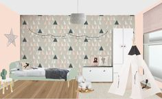 Visual of kids bedroom, London. Kids Bedroom, Curtains, London, Projects, Home Decor, Style, Log Projects, Swag, Blinds
