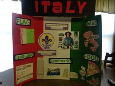 WTD Italy board Italy Culture, Culture Day, Girl Scout Troop, Girl Scouts, Girl Scout Activities, Activities For Kids, School Projects, Projects For Kids, European Day Of Languages