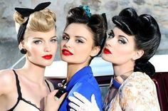 Rockabilly Hair and Makeup:: Rockabilly Girls:: Vintage