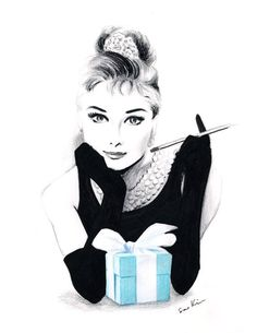 Audrey Hepburn at Tiffany's - love it