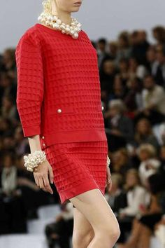 i think i need a new board knitinspiration' great waffle sweater and skirt combo. Chanel