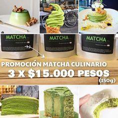 Recuerda que tenemos una increíble PROMOCIÓN de 3 bolsas de #MatchaCulinario a sólo $15.000 pesos (150g en total)!!  Realiza tus mejores preparaciones en alimentos junto a todas las propiedades que te entrega Matcha  Compras en www.matchachile.cl con envío a domicilio / promoción válida sólo en ventas online! ------- #matcha #matchachile #culinario #alimentos #propiedades #beneficios #vidasana #saludable #rico #antioxidantes #chile #oferta #promoción