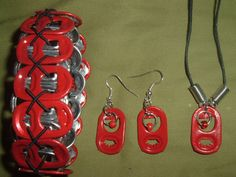 Budweiser can tab bracelet with matching by carolinacrafties, $10.00