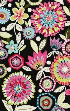 PB Teen Bella Floral Rug ~ Textile Print