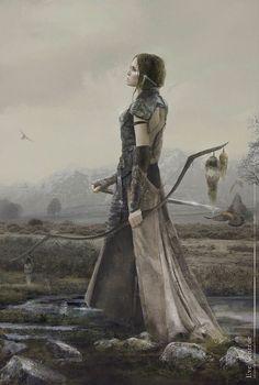 "fantasy-art-engine:  ""Archer by Eve Ventrue  """