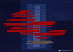 "Moving On, original handwoven tapestry by Skaidrite McKeag, 26.5"" x 37.25"", 100% hand-dyed wool"