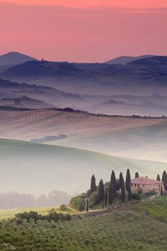 Calm morning in Tuscany, www.pinkcarryon.com