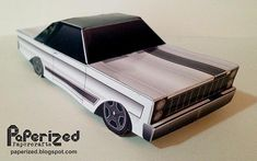PAPERMAU: Kindig It Design - 1965`s Ford Galaxie Paper Model - by Paperized