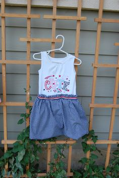 """""""Cute"""" 4th of July T-Shirt dress with bubble skirt for my little girl"""