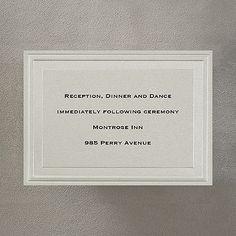 Charming Mocha - Reception Card weddingneeds.carlsoncraft.com