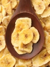 Banana chips - just slice bananas and put them in the oven at 200F for two hours, flip and leave for another hour or until golden. take them out to dry and they will turn crispy