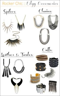 rocker chic accessories guide.  I have the stella and dot hematite with blue thread necklace and it is a cutie and goes with a lot.