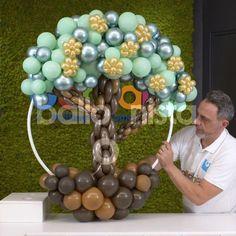 Balloon Tree, Balloon Crafts, Balloon Flowers, Balloon Garland, Birthday Balloon Decorations, Birthday Party Decorations, Balloon Decorations Without Helium, Balloon Arrangements, Custom Balloons
