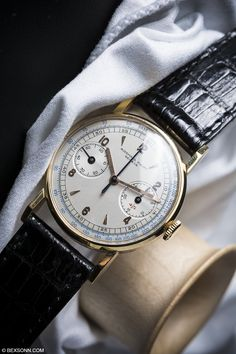 bexsonn:  That time we shot this seriously cool and rare 1930 @AudemarsPiguet Single Button Chronograph @MarcusWatches Read More Posts
