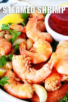 If the thought of shrimp cocktail gets you hyped, you're really going to love what a little Old Bay seasoning, onion, and garlic can do to a pot of shrimp. This Steamed Shrimp Recipe is perfection in a pot and always results in tons of flavor! Serve alongside lemon wedges and cocktail sauce for a restaurant treat at home!