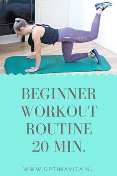 Beginner Workout Routine - Whole Body! // OPTIMAVITA - In this beginner workout we work on strength training for the entire body. 20 Min Workout, Pilates Workout Routine, Best Workout Plan, Workout Routines For Beginners, Pilates For Beginners, Pilates Video, Beginner Workouts, Running Workouts, Easy Workouts