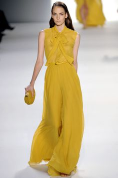 Elie Saab Haute Couture Spring/Summer 2012 - I think this is a great shade of yellow. It's muted just enough.