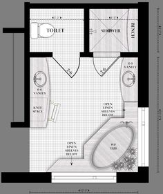Master Bathroom Layout - Bing Images