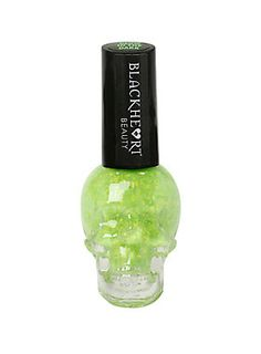 Exclusive lime splatter glow-in-the-dark nail polish from Blackheart!<br>Cruelty free/non-animal tested.<ul><li> .4 fluid ounces</li><li>Imported</li></ul>
