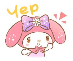 LINE Official Stickers - My Melody: Absolutely Adorable Example with GIF Animation My Melody Wallpaper, Sanrio Wallpaper, Mickey And Friends, Friends In Love, Snoopy New Year, Disney New Year, Hello Kitty My Melody, Cartoon Stickers, Kawaii